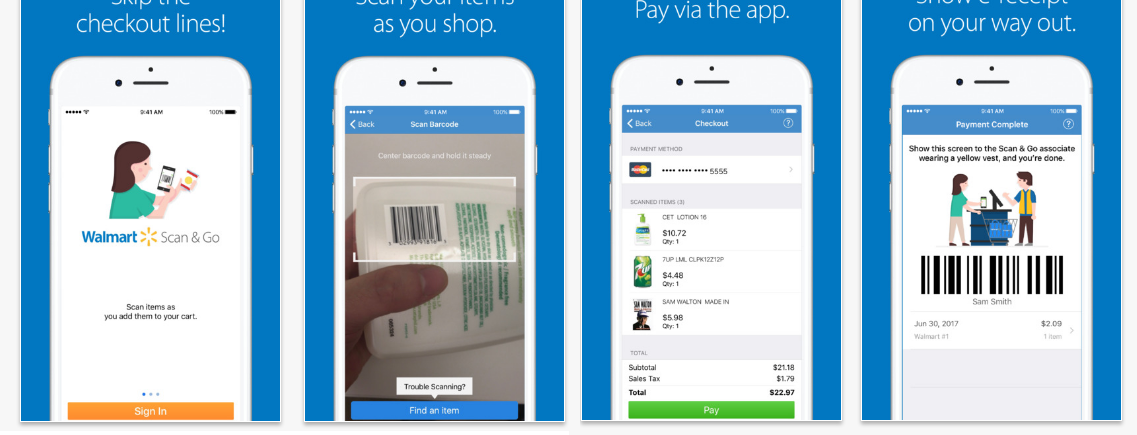 Walmart Testing Self-Scanning And Checkout By Smartphone: Yes, Again