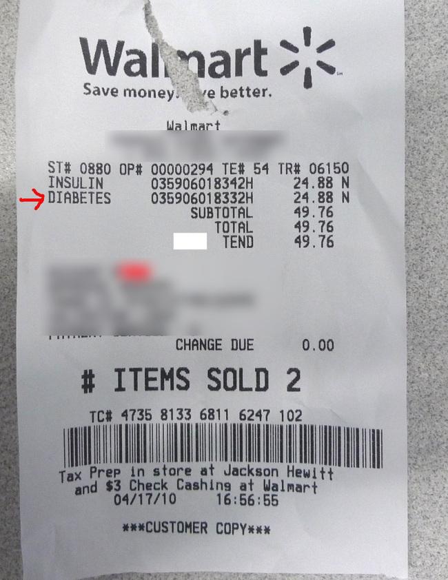 PHOTO: Walmart Sells Diabetes… For $24 88 – Consumerist