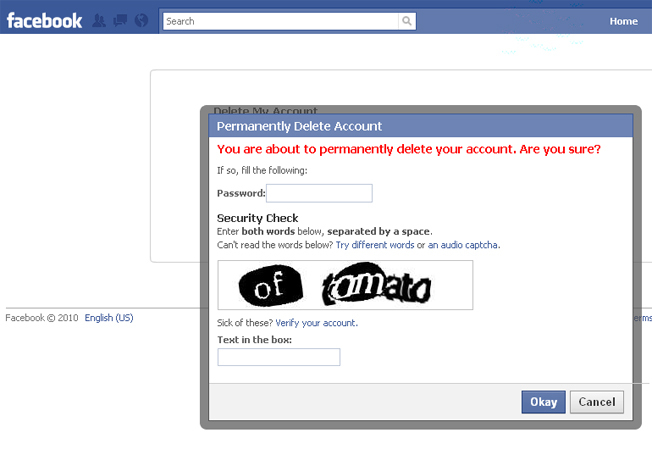 how to delete fb account forever
