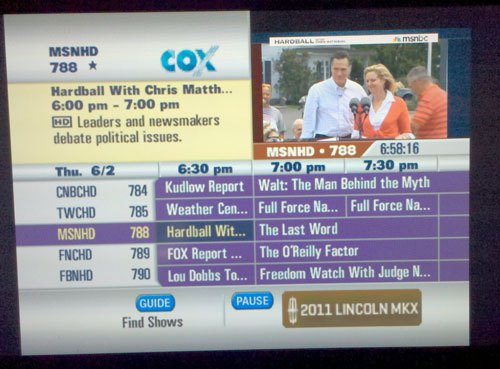 Cox Adds Banner Ads To Cable Programming Guide – Consumerist