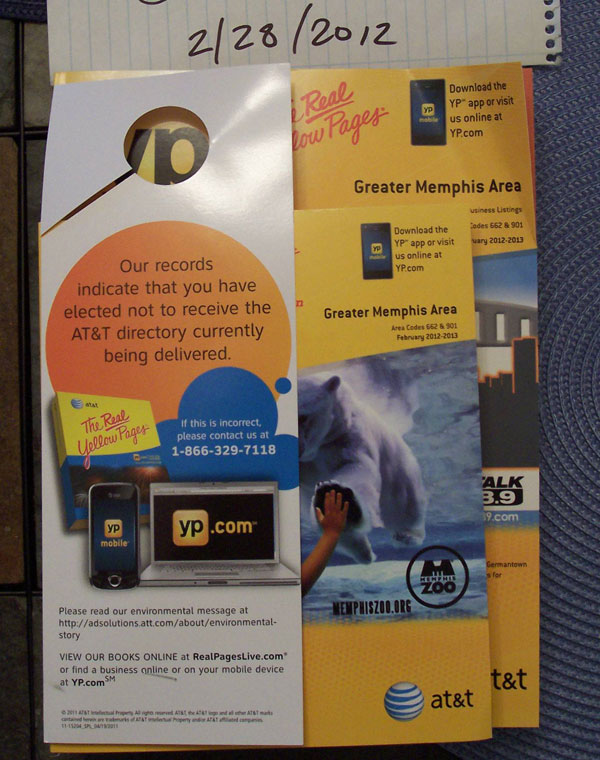Our Records Indicate That You Don't Want A Phone Book… Here Is Your Phone Book