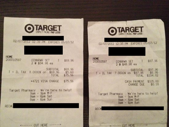 Target Will Not Price-Match Other Targets