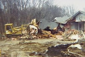 Man Bulldozes Home After Foreclosure