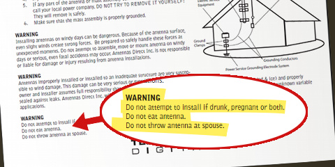 These Antenna Installation Instructions Are Surprisingly Specific