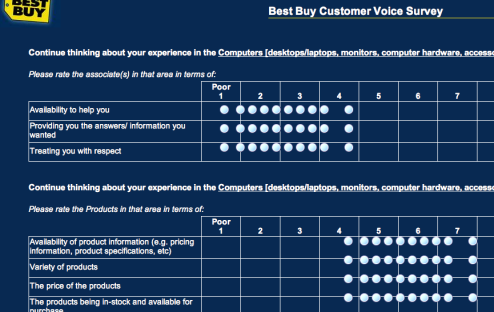 Best buy customer service survey