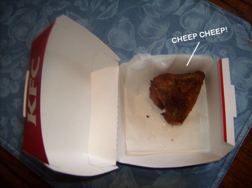 KFC's Grilled Chicken Giveaway Used Very Small Chickens