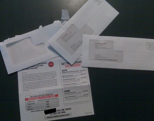 Man Receives 16 State Farm Junk Mailings In One Month