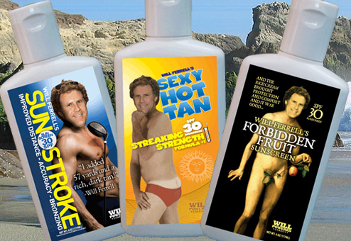 Will Ferrell Introduces Sunscreen For Men