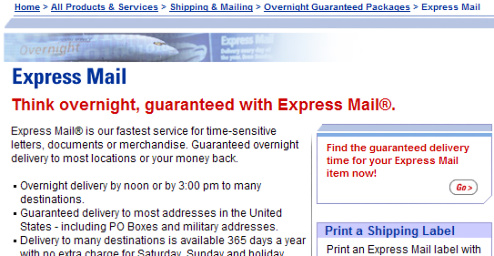 USPS Says Guaranteed Overnight Isn't Guaranteed. What?