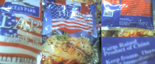 Winco Frozen Fish: The Big U.S. Flag Tells You It's Made In China!