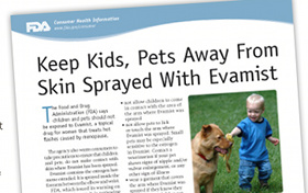 Hot Flash Spray Evamist Causes Boobs On Pets, Kids