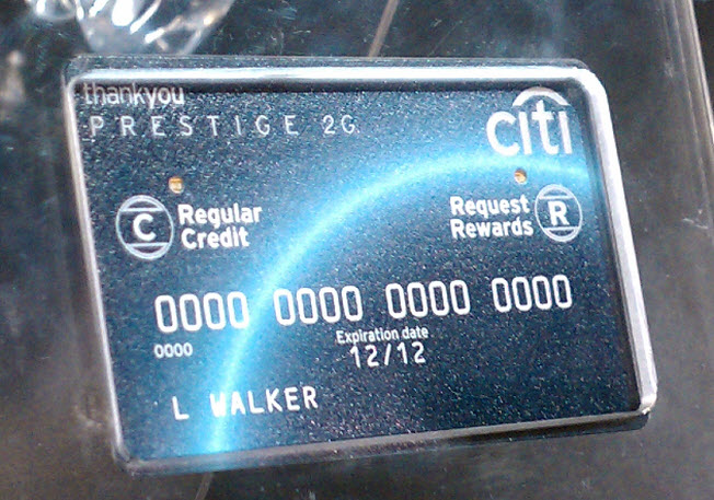 Citi Testing Card With Button That Lets You Choose To Pay With Reward Points