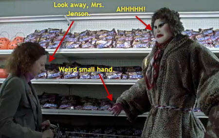 If This Snickers Lady Scares The Crap Out Of You, You Are Not Alone