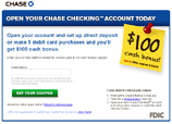 $100 For Opening Chase Checking Account