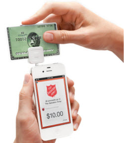 Salvation Army Bell Ringers Will Accept Credit Card Payments With Their Smart Phones