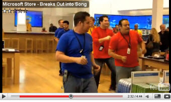 Microsoft Store Employees Cruelly Forced To Dance For The Internet