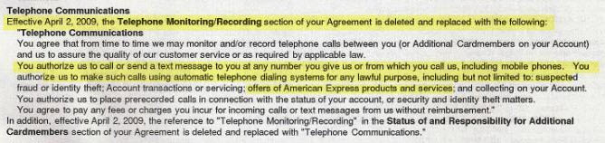"Amex: ""We're Gonna Text Message Your Cellphone And You're Gonna Pay For It"""