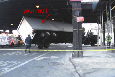 We Hope Your Mail Isn't On This Postal Truck