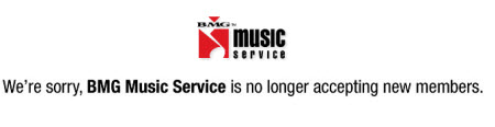 Return To Sender: BMG Music Has Been Discontinued