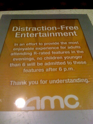 AMC: No Kids After 6pm In R-rated Movies