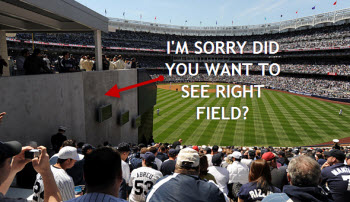 Whoops, You Paid $1,200 For Crappy Obstructed View Yankee Tickets