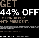44% Off At Kenneth Cole Today