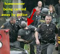 Cops Break Down Door To Foreclosure Protest House, Carry Away Homeowner