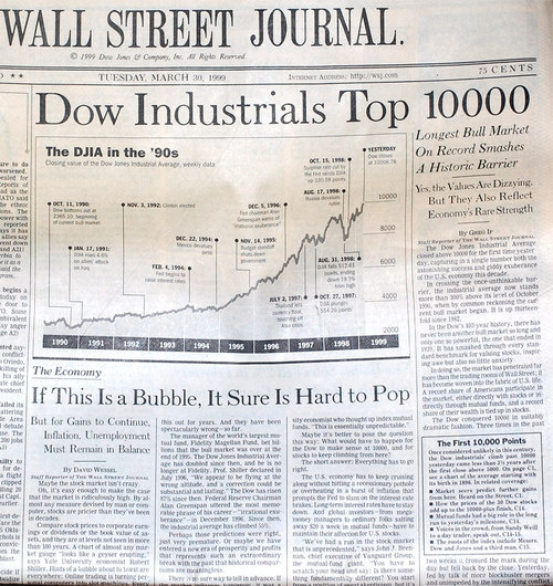 "WSJ 1999: ""If This Is A Bubble, It Sure Is Hard To Pop"""