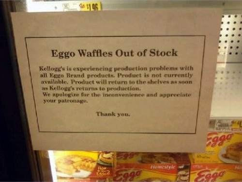 Hey, Where Did All The Eggo Waffles Go?