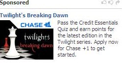 "Chase Marketing Credit Cards To The ""Twilight"" Demographic… And Creeping Them Out"