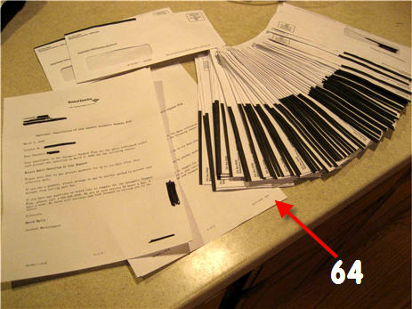 Bank of America Sends You 64 Identical Letters