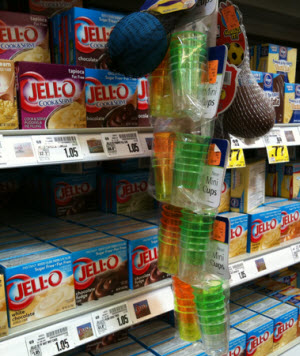 Kroger Conveniently Places Plastic Shot Glasses Next To Jell-O