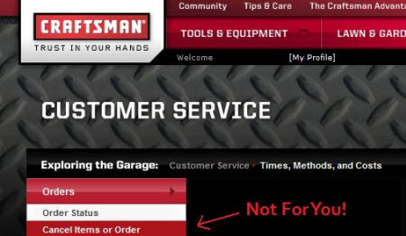 Craftsman Doesn't Have The Ability To Cancel A Duplicate Order