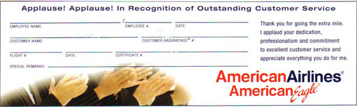 Say Thanks To AA Employees With Slips Of Paper