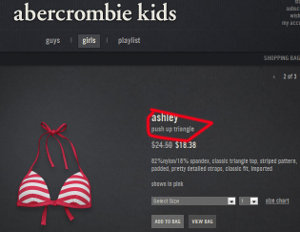 Abercrombie Realizes 7-Year-Old Girls Don't Need Push-Up Bikini Tops