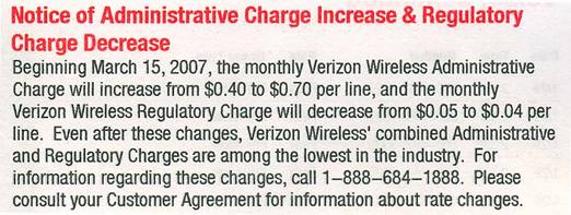 Cancel Verizon Without Penalty Over Admin Fee Increase