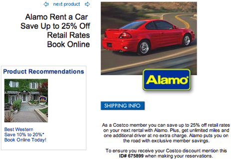 Alamo, Rudely, Doesn't Honor Costco Discount