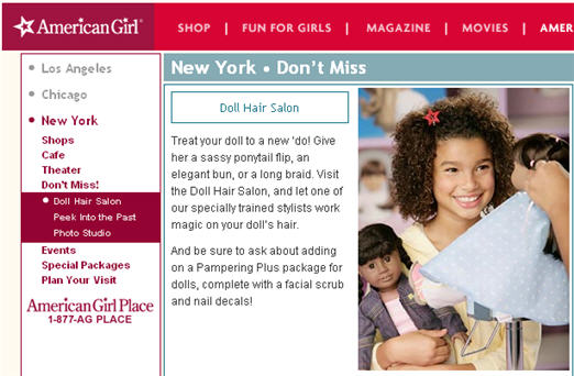 American Girl Place Mocks 6 Year-Old For Having A Doll From Target, Refuses To Style The Doll's Hair