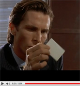 American Psycho: The Business Card Scene