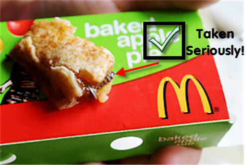 "McDonald's Takes Baking Metal Screws Into Their Apple Pies ""Very Seriously"""