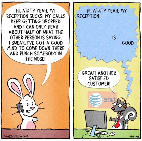 Comic Explains Why AT&T Is Oblivious To Reception Problems