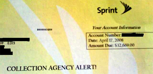 Sprint Sends You Bill For $32,669