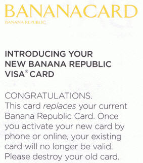 Banana Republic Sends You A Mysterious Visa Credit Card After You Opted Out