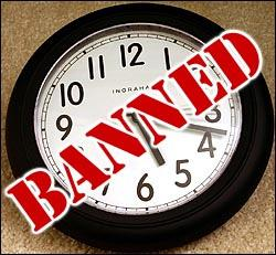 Bank Bans Clocks to Confuse Customers