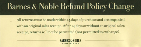 Barnes & Noble Limited Receipt Policy Won't Go National Until October?
