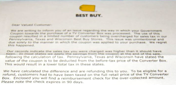 Best Buy Apologizes For Charging You Too Much Tax On Your DTV Converter Box