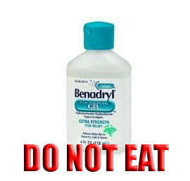 The FDA Would Like You To Stop Drinking Your Benadryl Lotion