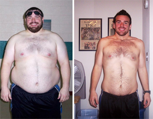 Man Runs Away From Being Fat, Loses 120 Lbs