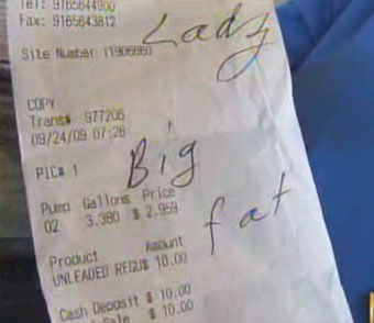 "Gas Station Writes ""Big Fat Black Lady"" On Customer's Receipt"