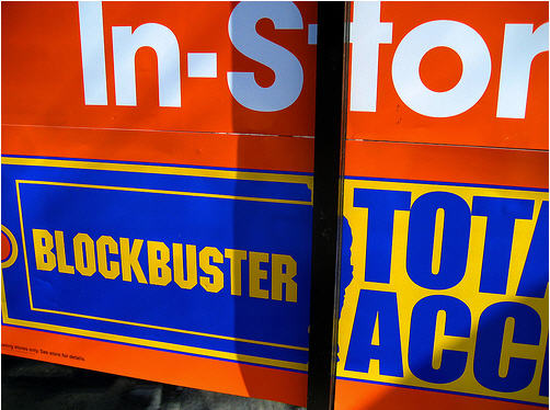 Blockbuster Store Requires New Members to Sign Up For Online Service?